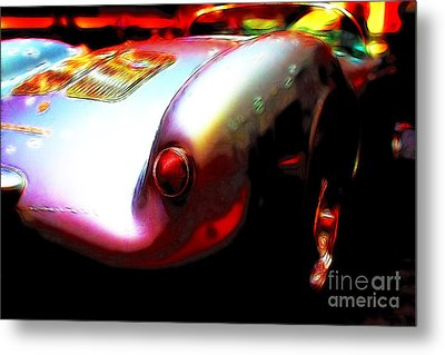 1955 Porsche 550 Rs Spyder . Color Sketch Style Metal Print by Wingsdomain Art and Photography