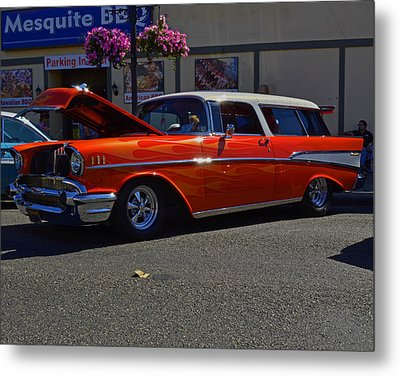 Metal Print featuring the photograph 1957 Belair Wagon by Tikvah's Hope