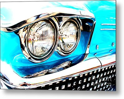 Metal Print featuring the digital art 1958 Buick by Tony Cooper