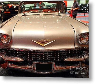 1958 Cadillac Eldorado Biarritz Convertible . Silver . 7d9421 Metal Print by Wingsdomain Art and Photography
