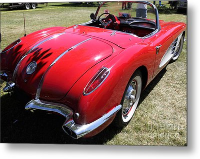1958 Chevrolet Corvette . 5d16216 Metal Print by Wingsdomain Art and Photography