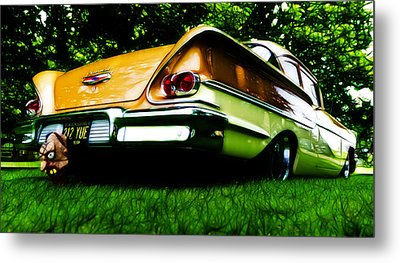 1958 Chevrolet Delray Metal Print by Phil 'motography' Clark