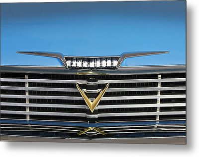 1958 Plymouth Belvedere Convertible Grille Emblem Metal Print by Jill Reger