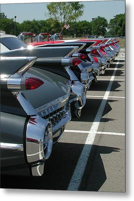 1959 Caddy Fins Metal Print