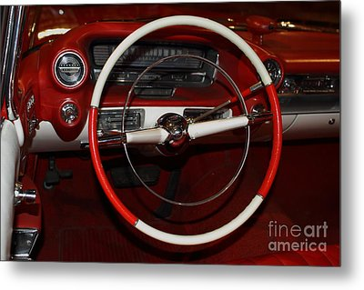 1959 Cadillac Convertible - 7d17387 Metal Print by Wingsdomain Art and Photography
