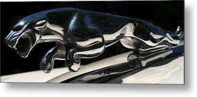 1959 Jaguar Hood Ornament Metal Print by Elizabeth Coats