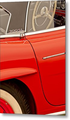 1962 Mercedes-benz 300 Sl Roadster Metal Print by Jill Reger