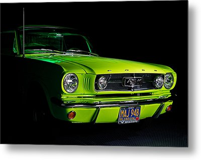 Metal Print featuring the photograph 1965 Ford Mustang by Jim Boardman