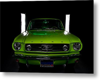 Metal Print featuring the photograph 1965 Mustang by Jim Boardman