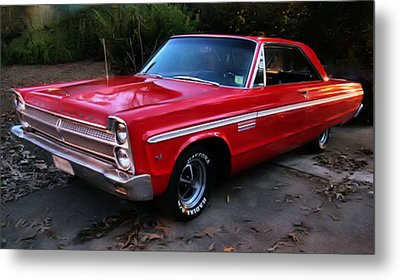 Metal Print featuring the photograph 1965 Plymouth Fury by Elizabeth Coats
