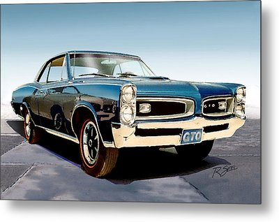 Metal Print featuring the painting 1966 Pontiac Gto by Rod Seel