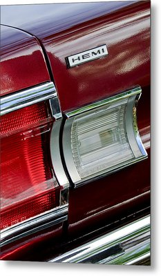 1967 Plymouth Hemi Taillight  Metal Print by Jill Reger