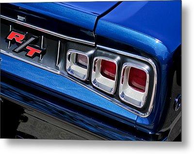 1968 Dodge Coronet Rt Hemi Convertible Taillight Emblem Metal Print by Jill Reger