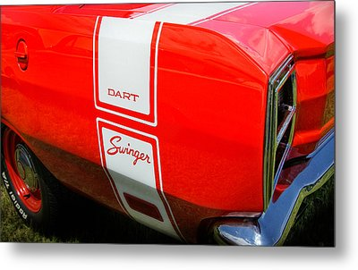 1969 Dodge Dart Swinger 340 Metal Print by Thomas Schoeller
