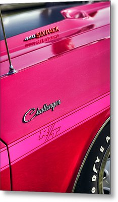 1970 Dodge Challenger Rt 440 Six Pack - Tickled Pink Metal Print by Gordon Dean II