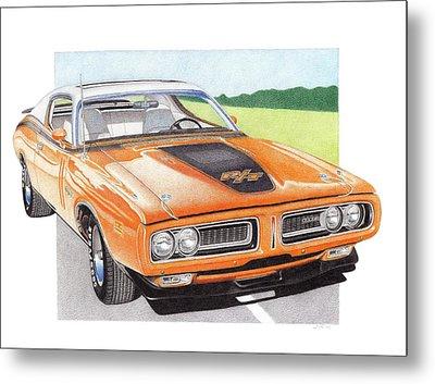 1971 Dodge Charger Rt Metal Print by James Robert