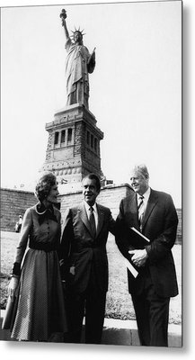 1972 Us Presidency.  From Left First Metal Print by Everett