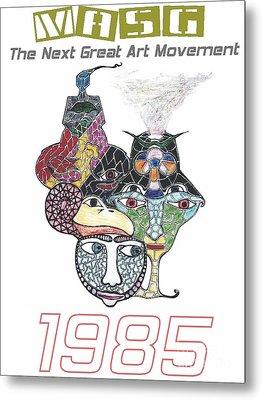 1985 Masg Art By Upside Down Artist L R Emerson II Metal Print