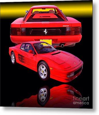 1990 Ferrari Testarossa Metal Print
