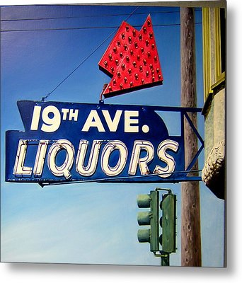 19th Ave Liquors Metal Print by Jim Gleeson