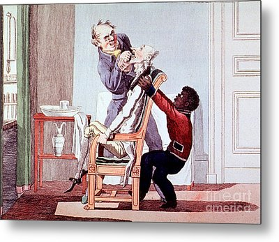 19th Century Dentistry Tooth Extraction Metal Print by Science Source