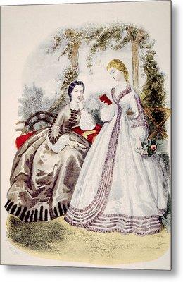 19th Century Fashion Illustration Metal Print