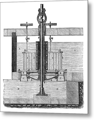 19th Century Parallel-flow Turbine Metal Print by Library Of Congress