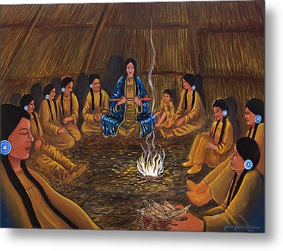 1st Pipe Ceremony Metal Print by James Roderick