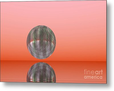 Planet Reflection Metal Print by Odon Czintos