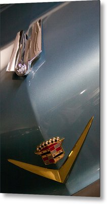 1955 Cadillac Eldorado 2 Door Convertible Metal Print by David Patterson