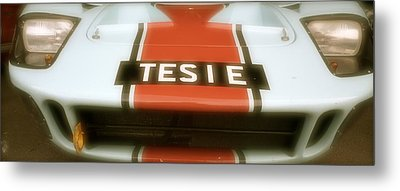 Metal Print featuring the photograph 1965 Ford Gt40 by John Colley