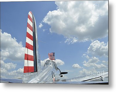 A Bt-13 Valiant Trainer Aircraft Metal Print by Stocktrek Images