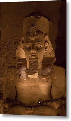 A Close View Of Ramses IIs Temple Metal Print by Taylor S. Kennedy