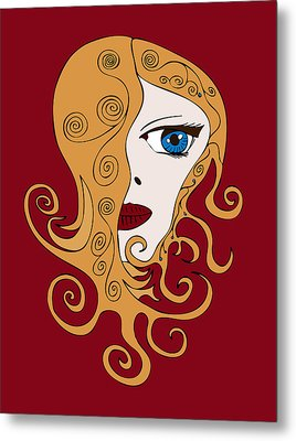 A Woman Metal Print by Frank Tschakert