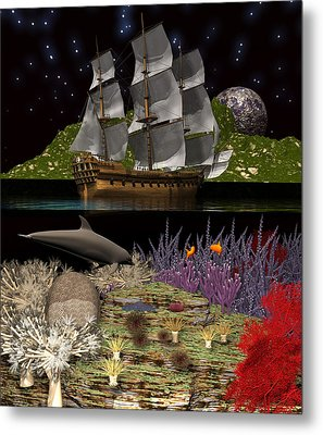 Metal Print featuring the digital art Above And Below by Claude McCoy