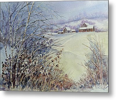 After The Snowfall Metal Print by Louise Peardon
