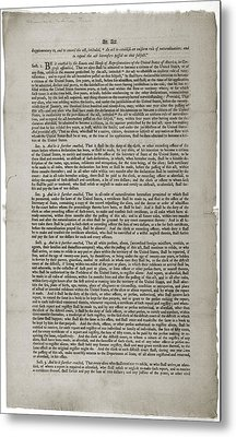 Alien And Sedition Acts Of 1798 Metal Print by Everett