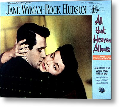 All That Heaven Allows, Rock Hudson Metal Print by Everett