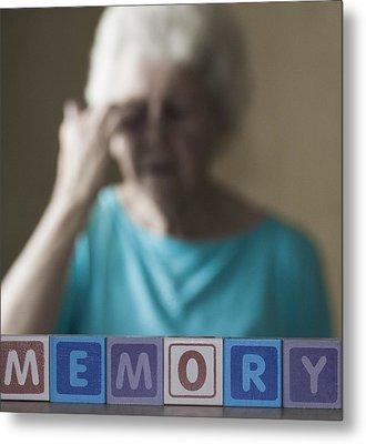 Alzheimer's Disease, Conceptual Image Metal Print by Cristina Pedrazzini