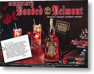 American Whiskey Ad, 1938 Metal Print by Granger
