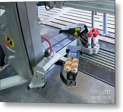 Automated Milking Machine Metal Print