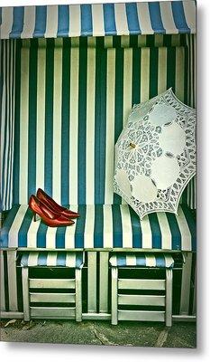 Beach Chair Metal Print by Joana Kruse