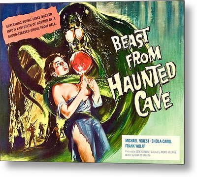 Beast From Haunted Cave, Sheila Carol Metal Print by Everett