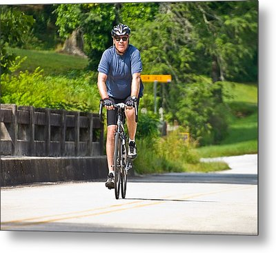 Bicycle Ride Across Georgia Metal Print by Susan Leggett