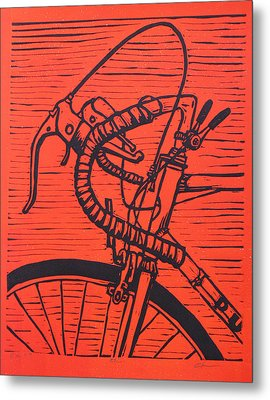 Metal Print featuring the drawing Bike 2 by William Cauthern