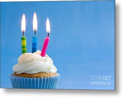 Birthday Cupcake Metal Print