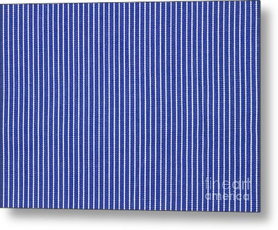 Blue And White Stripes Metal Print by Blink Images