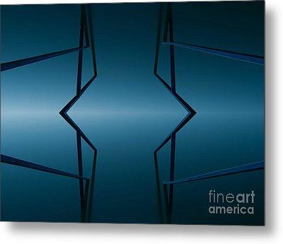 Blue Reflection Metal Print by Odon Czintos