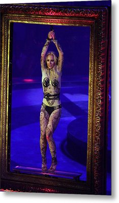 Britney Spears On Stage For The Circus Metal Print by Everett