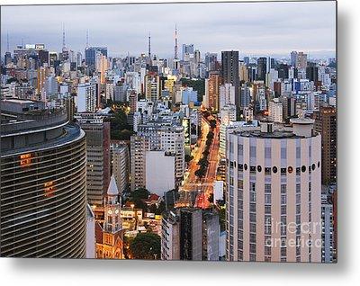 Buildings Of Downtown Sao Paulo Metal Print